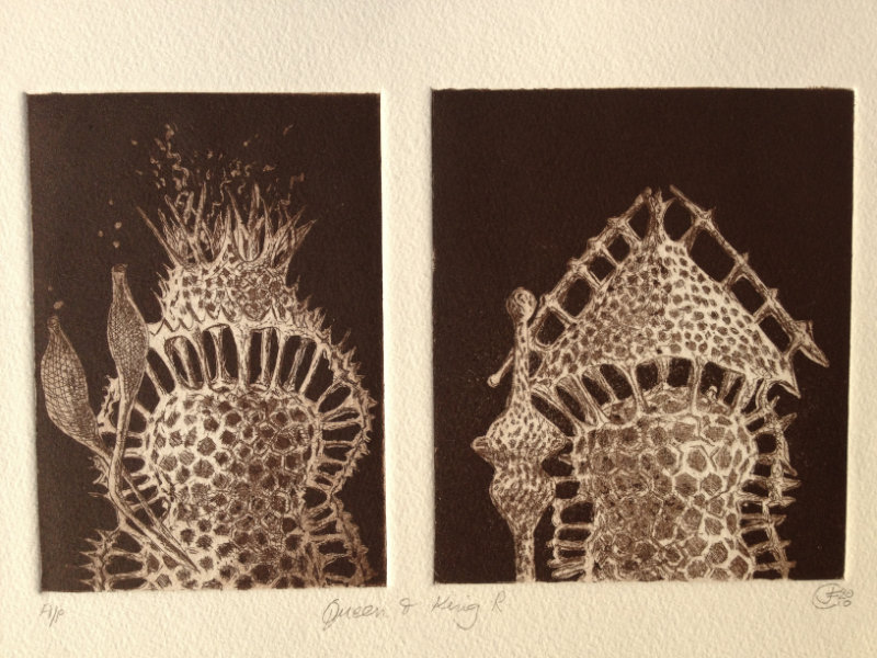 King and Queen - Etching with aquatint