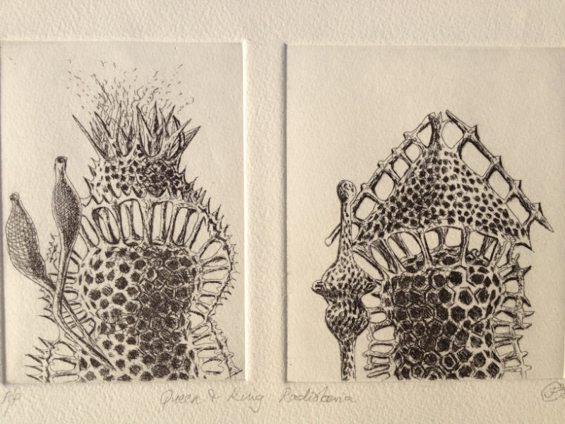 King and Queen - Etching