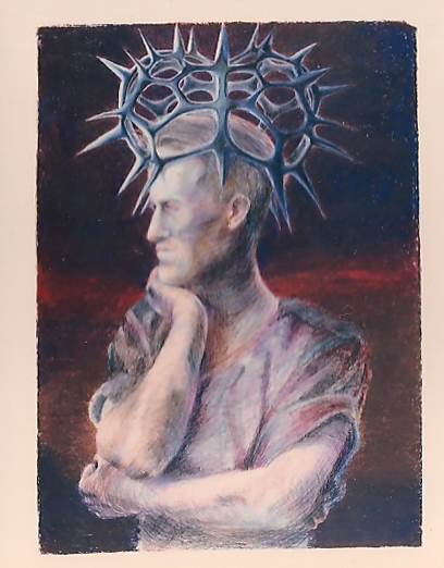 Lawrence of arabia with his crown of thorns - Pencil and Pastel